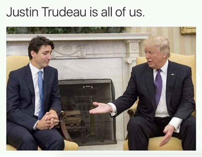 Screen Shot 2017 02 13 at 4.30.56 PM these memes perfectly capture justin trudeau recoiling from donald