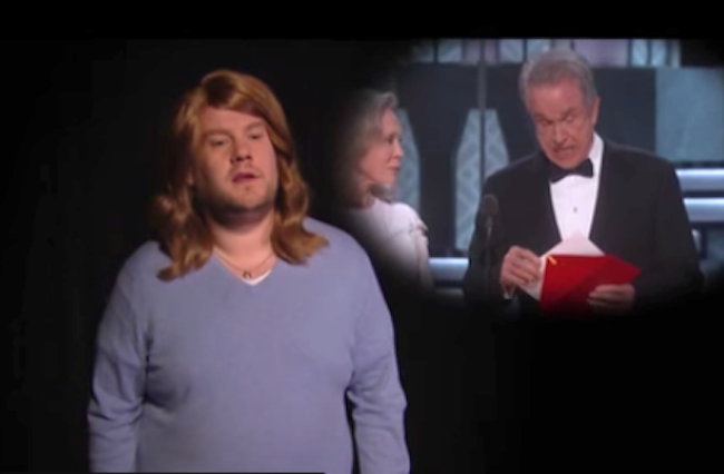 James Corden Nails La La Land Oscars Spoof