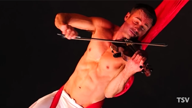 """Let Shirtless Violin Player covering Sia\'s """"Chandelier"""" into your ..."""