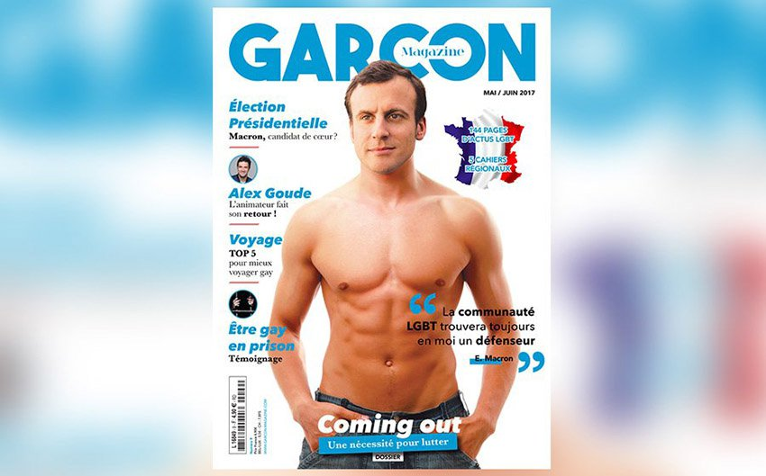 Image result for Macron shirtless