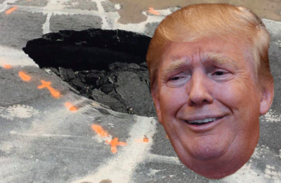 Sinkhole Forms Right Outside Trump's Mar-a-Lago