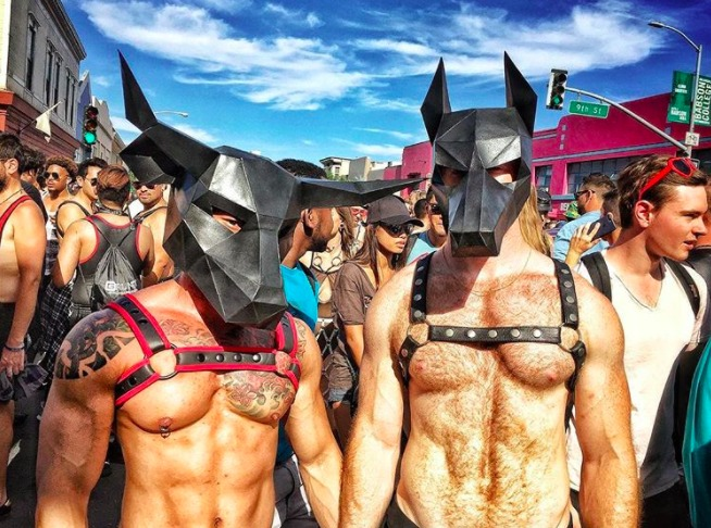 Two guys at Folsom Street Fair 2017