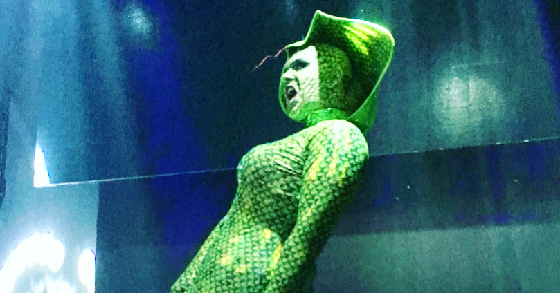 alexis-michelle-halloween-2017-snake-gown-dress-costume-stage-48-nyc
