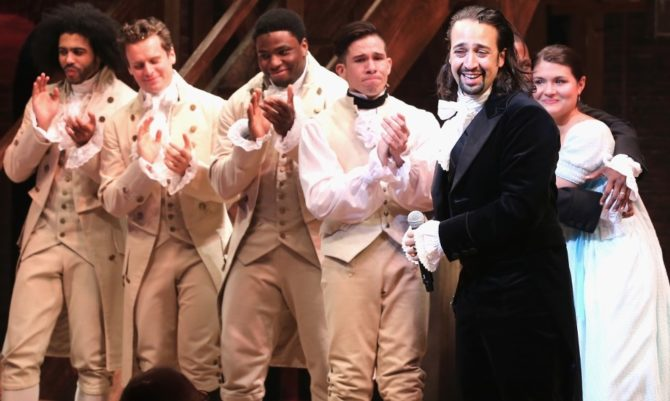 "Scene from Broadway's ""Hamilton"""