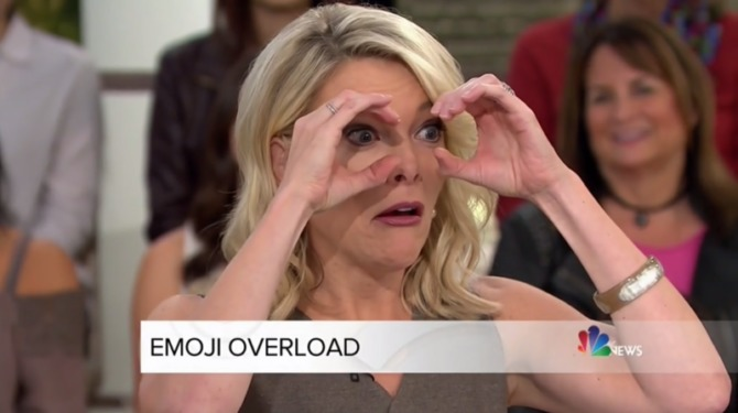 Megyn Kelly making a crazy face