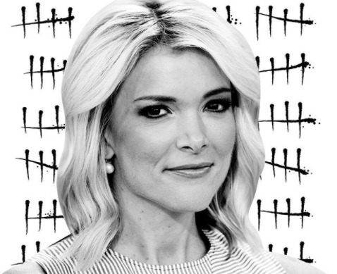 Megyn Kelly in black and white
