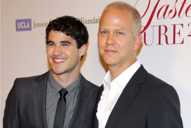 Ryan Murphy poses with Darren Criss