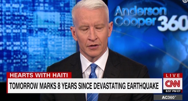 Screen Shot 2018 01 12 at 10.00.07 AM anderson cooper fights back tears as he defends haiti from trump's