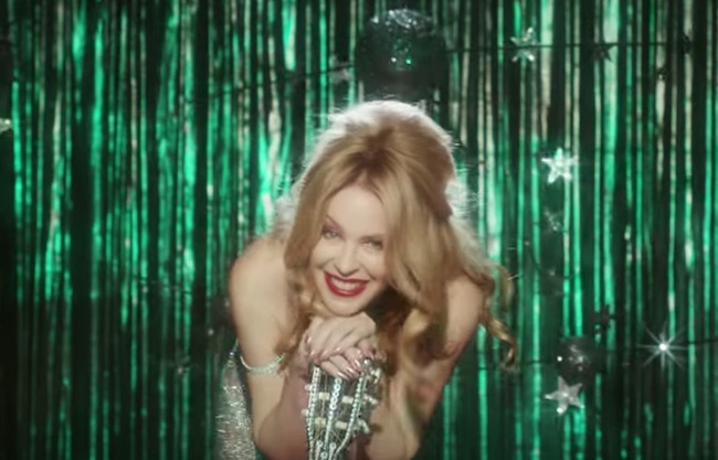Kylie Minogue stages a glittery hoe-down in 'Dancing' music video