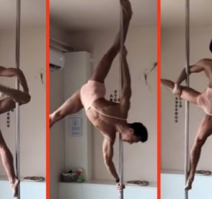 This insane pole-dancing routine will have you begging for more... culture.