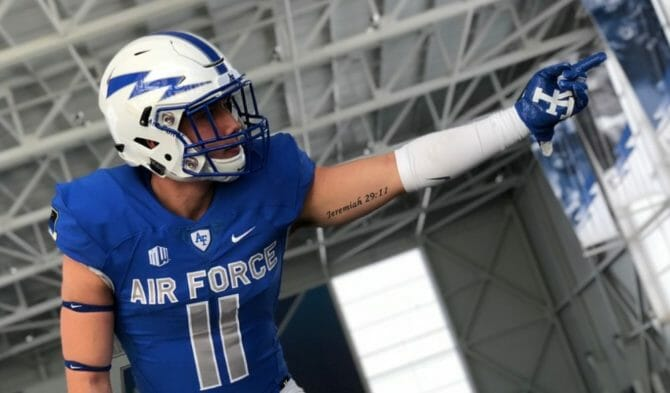 Out Air Force football player Bradley Kim