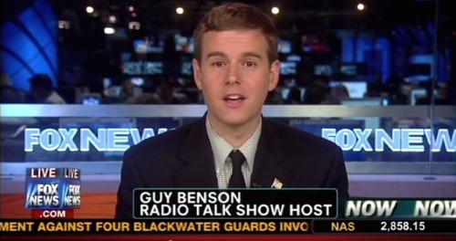 Commentator Guy Benson appearing on