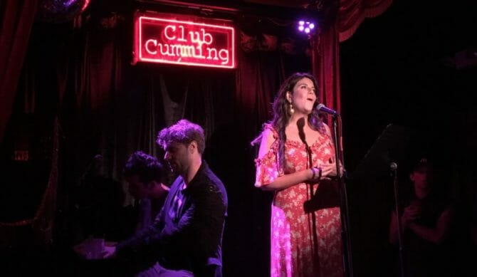 Monica Lewinsky performs at Club Cumming in New York City