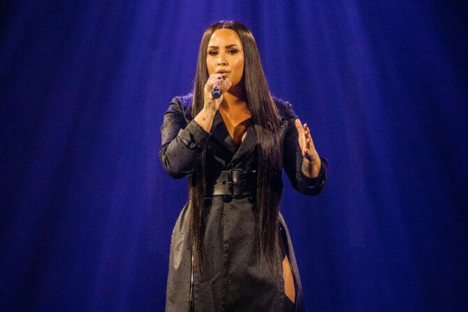 Demi Lovato performing live