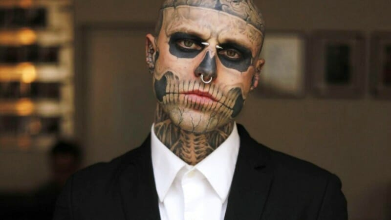 rick genest lady gaga born this way zombie boy death
