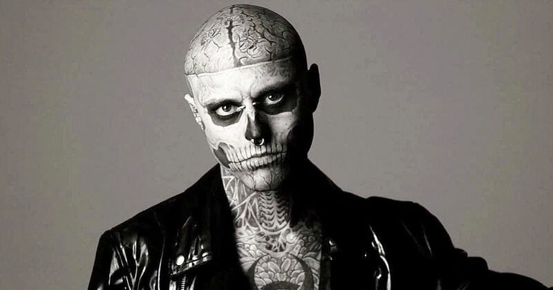 """Rick """"Zombie Boy"""" Genest, from Lady Gaga's """"Born This Way"""" video"""