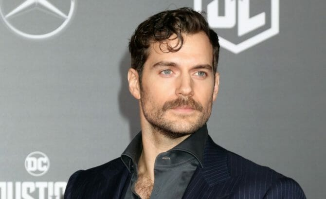 Henry Cavill attends a press event