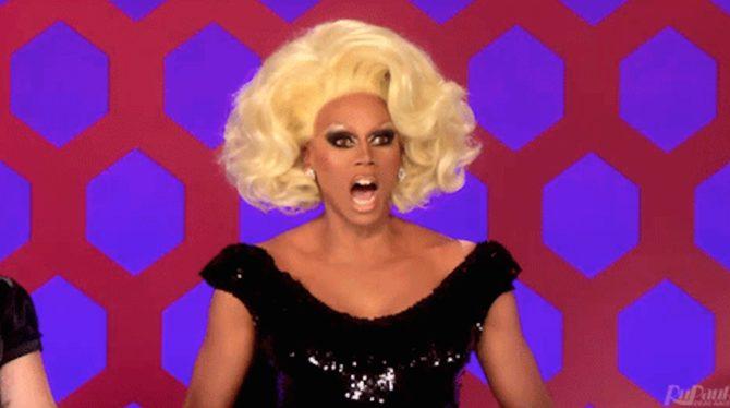 "RuPaul looks upset while filming ""Drag Race"""