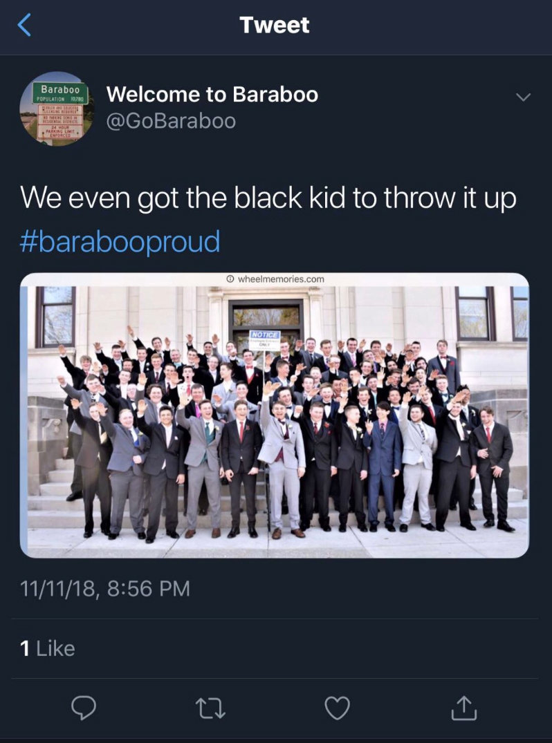 Baraboo high school, nazi salute