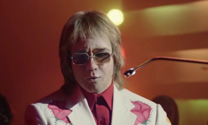 A young Elton John