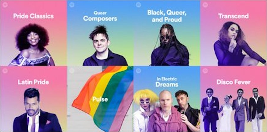 spotify pride playlists, lgbtq, gay, music, queer