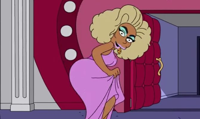 RuPaul as a character on