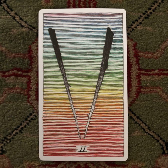 Two of wands (reversed)