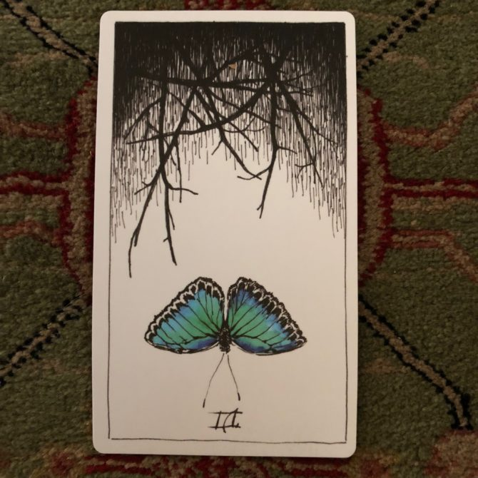 Six of cups (reversed)