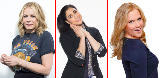 Chelsea Handler, Sarah Silverman, and Amy Schumer