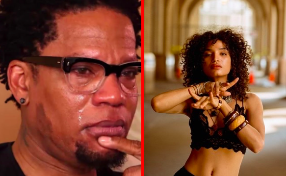 D.L. Hughley and Indya Moore side by side