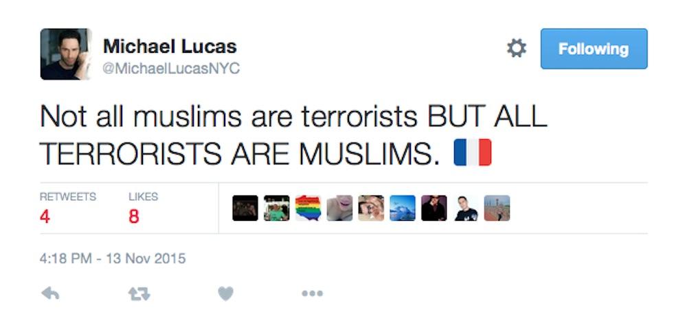 Michael Lucas, Muslim, Islam, Islamophobia