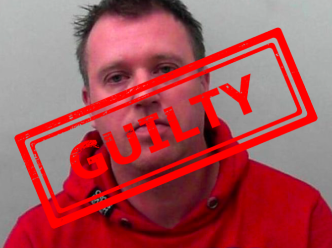 Nigel Wilkinson guilty mugshot