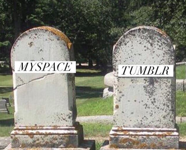 Tumblr's grave