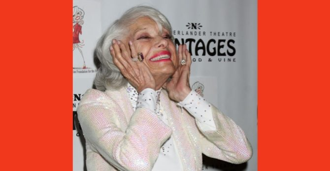 Carol Channing arrives at a performance celebrating her 90th Birthday at Pantages Theater on February 21, 2011 in Los Angeles, CA