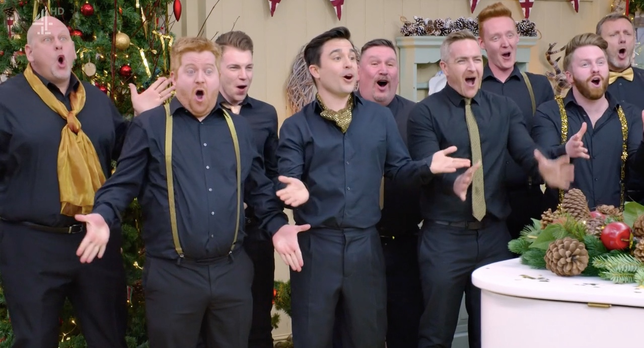 gay men's chorus, Great British Bake Off, Great Christmas Bake Off
