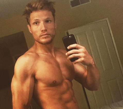 Jason Boyce shirtless selfie