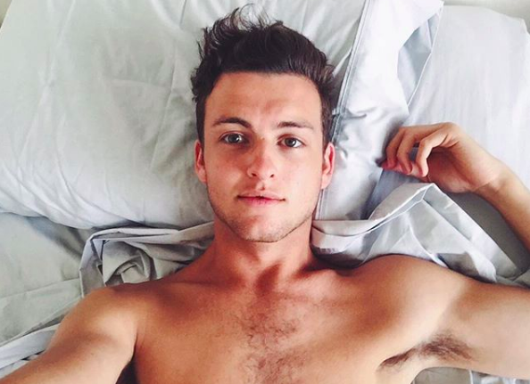 Cameron Robbie in bed