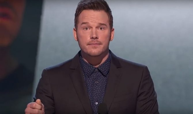 Chris Pratt looking dumb