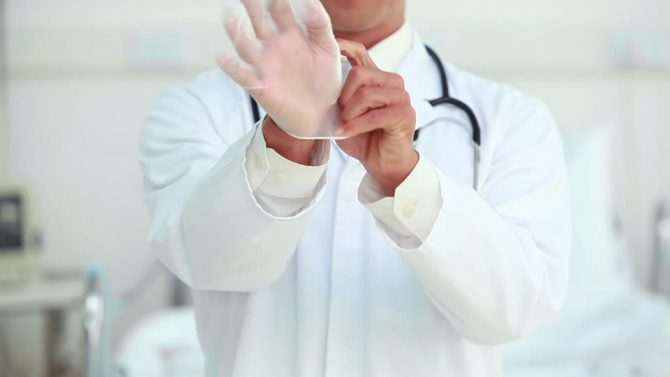 Doctor's gloves