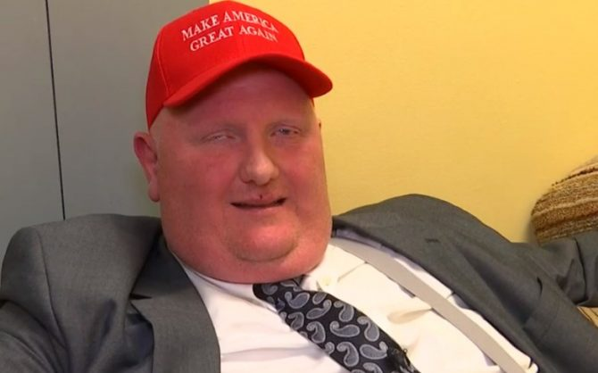 Eric Porterfield in a MAGA hat