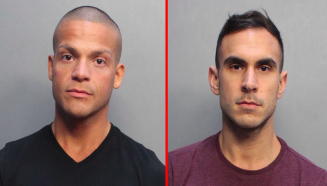 Two men in mugshots