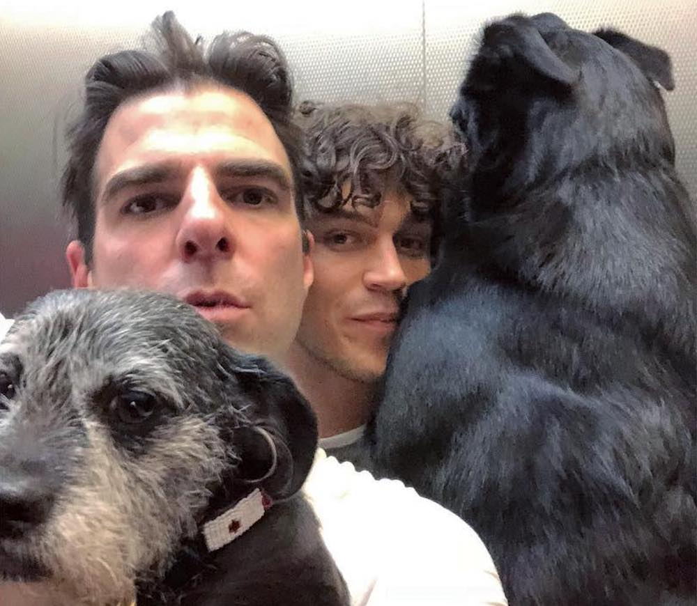 Zachary Quinto, Miles McMillan, dogs