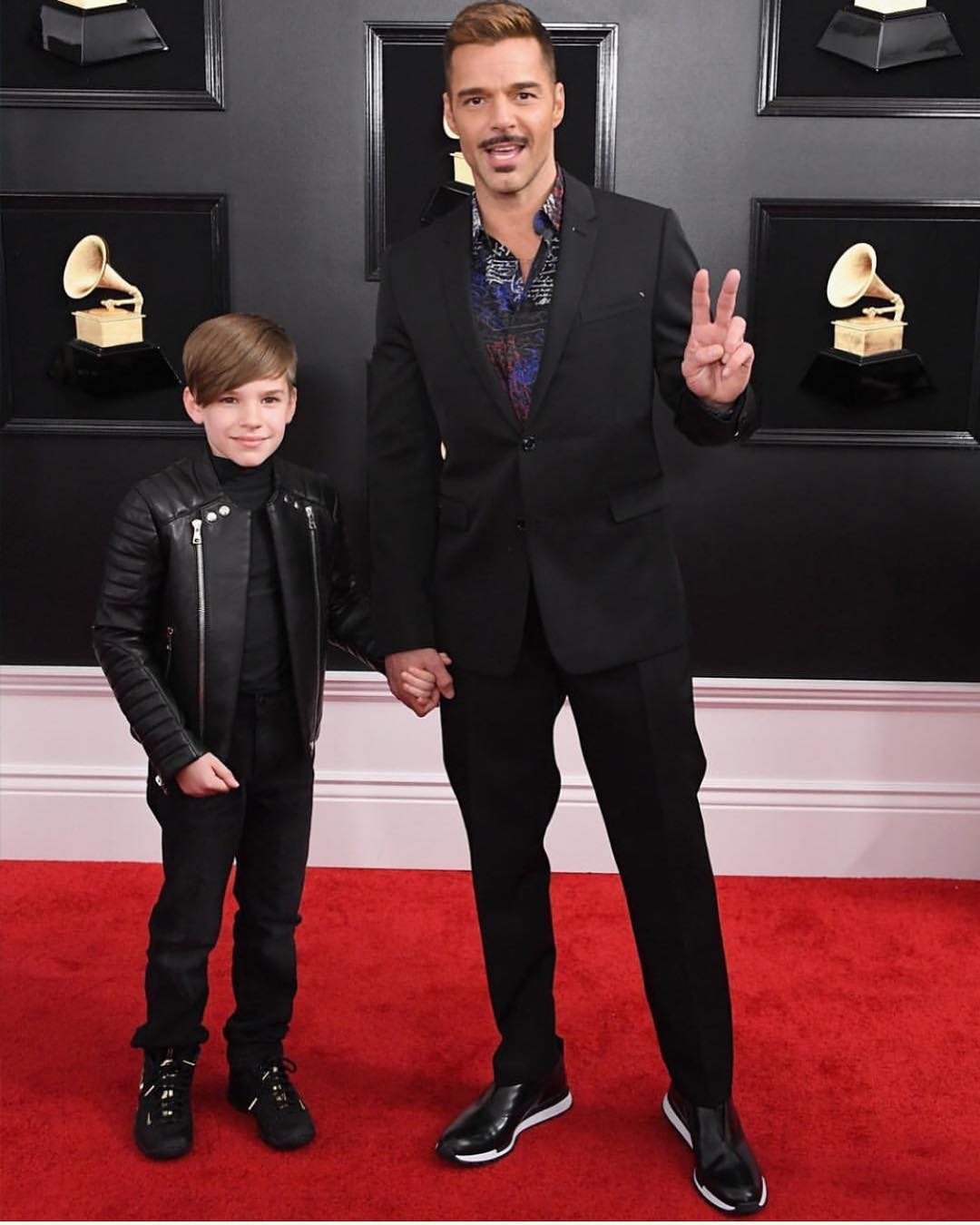 Ricky Martin, Grammys, mustache, Matteo