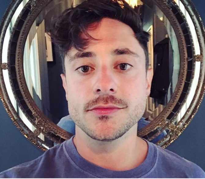 Actor Ryan Sampson poses for a selfie, via Instagram