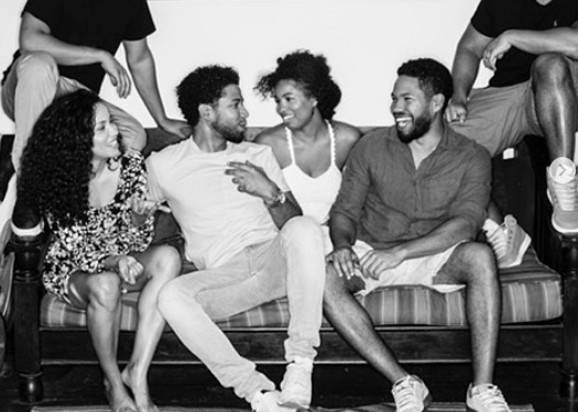 Actor Jussie Smollett and his family