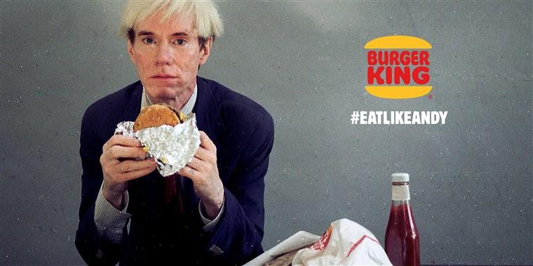 And Warhol Super Bowl Ad for Burger King