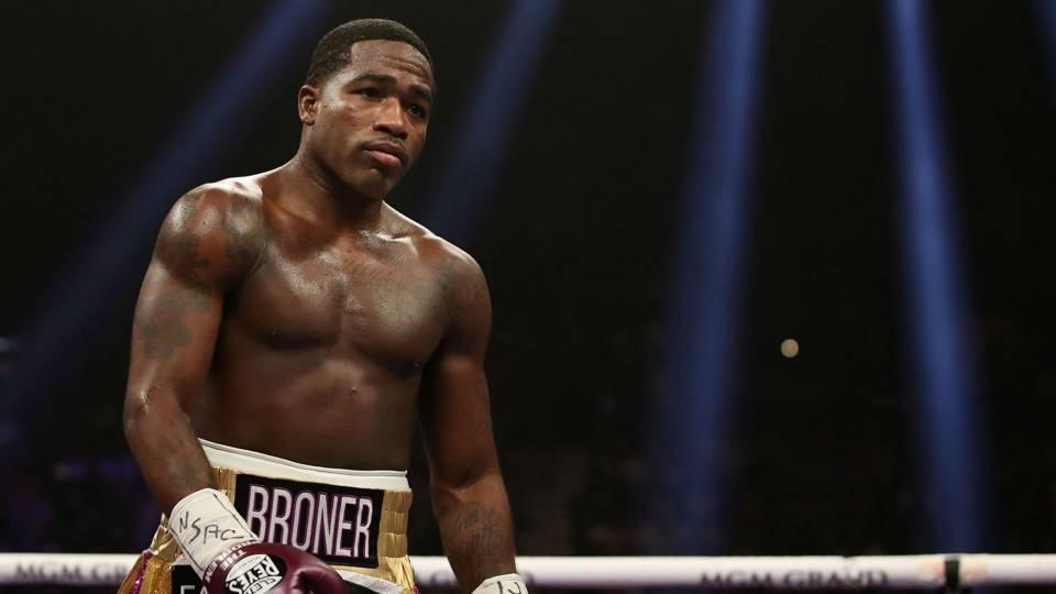Adrien Broner in boxing ring