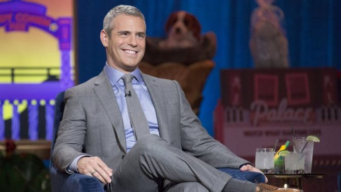 Andy Cohen in a grey suit