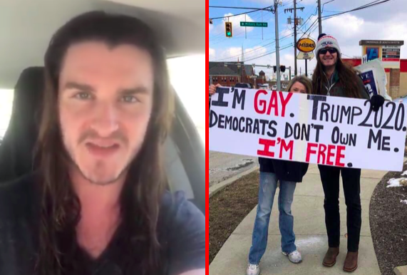 Angry gay trump supporter