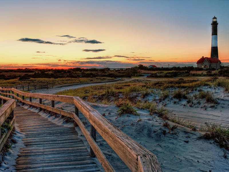 Boardwalk to Fire Island Beach